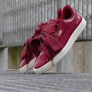 Puma Basket Heart Patent Red Sneakers